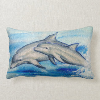 Jumping dolphins lumbar cushion