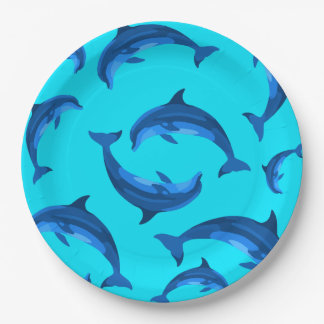 Jumping Dolphins Tropical Summer Party Plates 9 Inch Paper Plate