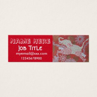 Jumping elephant business card