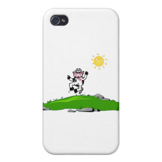 Jumping for Joy Cow on Grass iPhone 4/4S Case