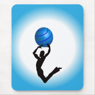 Jumping  Guy dancing  with sphere Mouse Pad