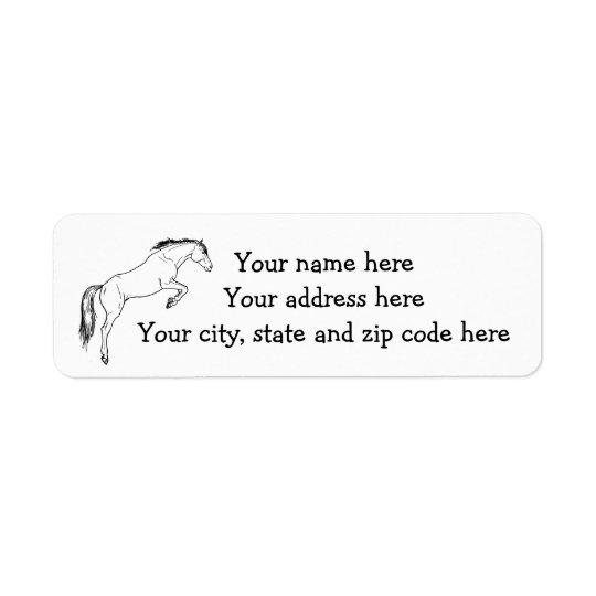 Jumping horse return address label