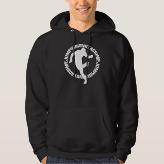 Jumping is not a crime hoodie
