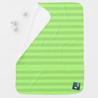 Jumping Joy Baby Green Stripe Receiving Blanket