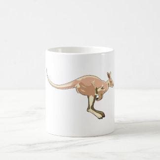 Jumping Kangaroo Basic White Mug