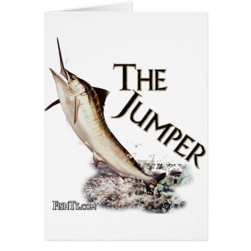 Jumping Marlin-Nice fisherman's catch Greeting Card