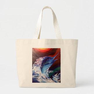 Jumping Marlin Tote Bag