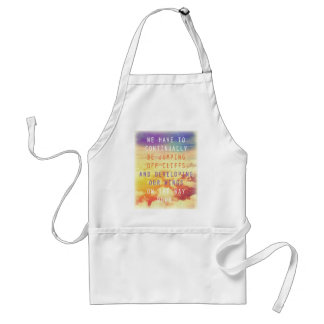 Jumping Off Cliffs Motivational Quote Aprons