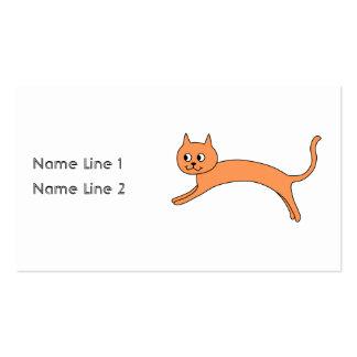 Jumping Orange Cat. Business Card Templates