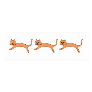 Jumping Orange Cat. Business Card Template