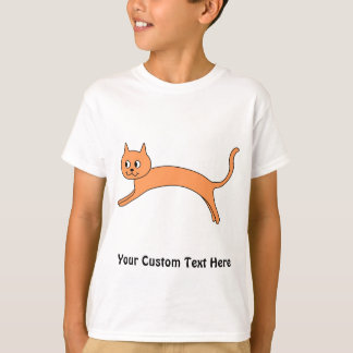 Jumping Orange Cat. T-Shirt