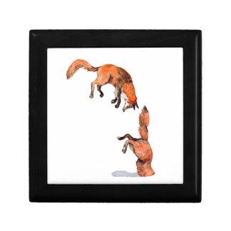 Jumping Red Fox Gift Box