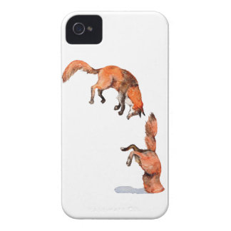Jumping Red Fox iPhone 4 Case-Mate Cases