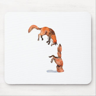 Jumping Red Fox Mouse Pad