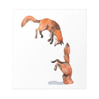 Jumping Red Fox Notepad