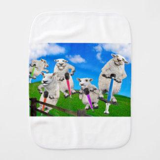 Jumping Sheep Burp Cloth