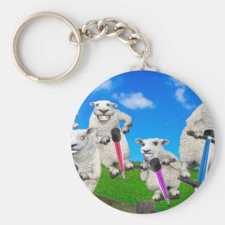 Jumping Sheep Key Ring