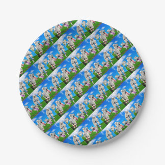 Jumping Sheep Paper Plate