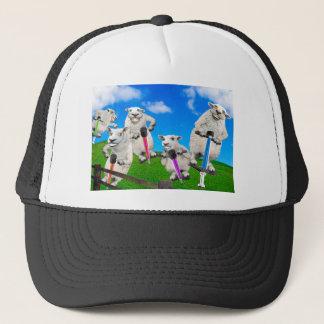 Jumping Sheep Trucker Hat