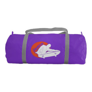 Jumping Skateboarder at Sunset Gym Duffel Bag