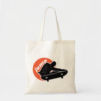 Jumping Skateboarder Tote Bag