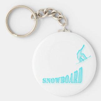 Jumping Snowboarder Keychain