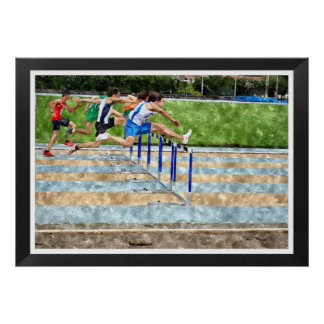 JUMPING THE OBSTACLES POSTER