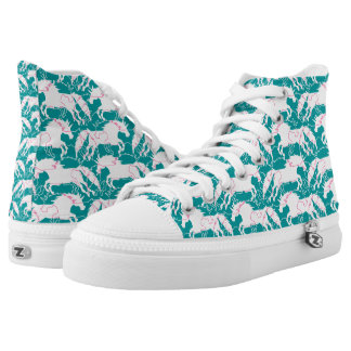 Jumping Unicorns Shoes Printed Shoes