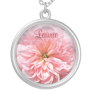 JUNE Birth Flower - Pink Rose Necklace