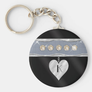 June Birthday Charm Key Ring