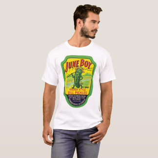 June Boy Brand Vintage Kosher Dill Pickles Labels T-Shirt