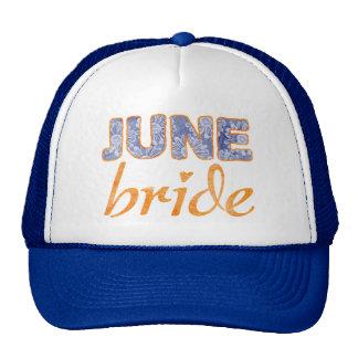 June Bride Wedding T-Shirt Cap