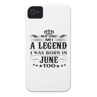 June month Legends tshirts Case-Mate iPhone 4 Case