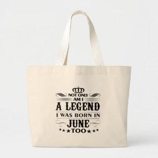 June month Legends tshirts Large Tote Bag