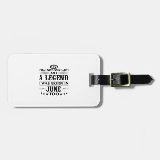June month Legends tshirts Luggage Tag