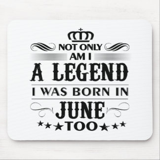 June month Legends tshirts Mouse Pad