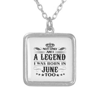 June month Legends tshirts Silver Plated Necklace