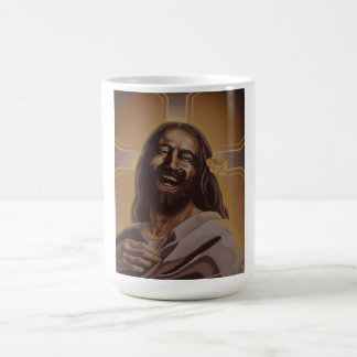 June Moon's Laughing Jesus mug