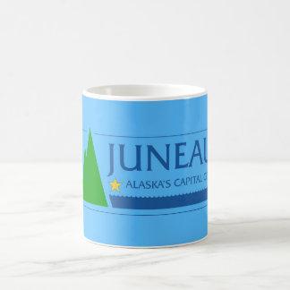 Juneau city Alaska flag united states america symb Basic White Mug