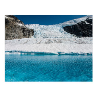 Juneau Icefield Icefall and super glacial lake Postcard