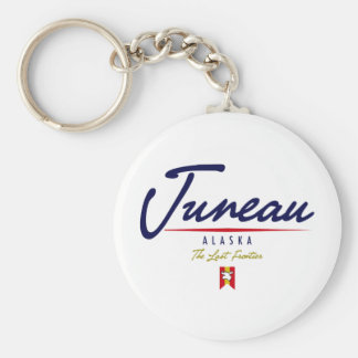 Juneau Script Key Ring
