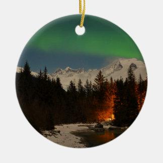 Juneau's Northern Lights Ceramic Ornament