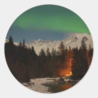 Juneau's Northern Lights Classic Round Sticker