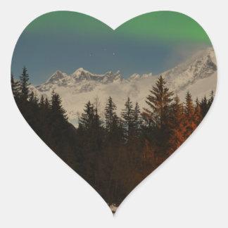 Juneau's Northern Lights Heart Sticker