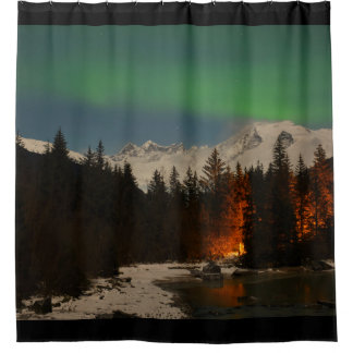 Juneau's Northern LIghts Shower Curtain