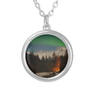 Juneau's Northern Lights Silver Plated Necklace