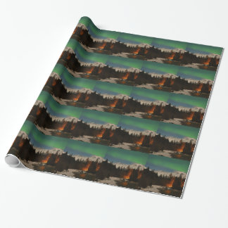 Juneau's Northern Lights Wrapping Paper