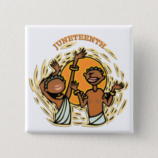Juneteenth 15 Cm Square Badge