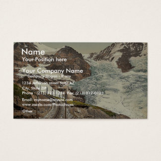 Jungfrau, railroad, Eiger and Monch, with Eiger Gl Business Card