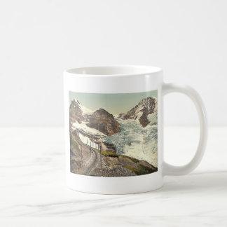 Jungfrau, railroad, Eiger and Monch, with Eiger Gl Coffee Mug